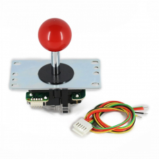 Joystick Sanwa JLF in color red
