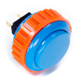Sanwa OBSN-30 Blue Pushbutton 30mm with Screw Ring