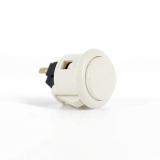 Sanwa OBSF-24 Spieltaster / Pushbutton in weiß, 24mm