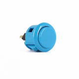 Sanwa OBSF-24 Spieltaster / Pushbutton in Blau, 24mm