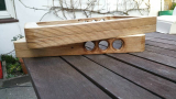 Arcade Fight Stick or Hitbox Gehäuse made with wood