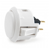 Pushbutton White 30mm Sanwa OBSF-30