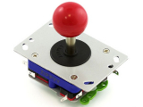 zippy joystick in red with long shaft