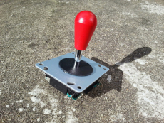 Joystick mit roten Bat Top