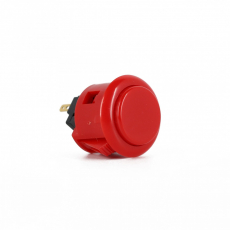 Sanwa OBSF-24 Spieltaster / Pushbutton in Rot, 24mm
