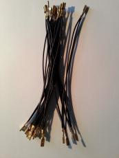 Kabel schwarz mit Flachsteckhülse (daisy chain) 2,4 mm, 11 Stck.