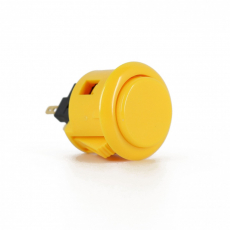 Sanwa OBSF-24 Spieltaster / Pushbutton in gelb, 24mm