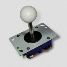zippy joystick in white with long shaft