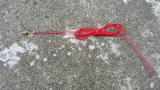 Kabel rot mit Flachsteckhülse, 6,3mm, Länge 1m