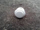 Spieltaster / Pushbutton in weiß, 24mm